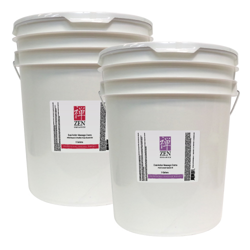 Our 5 Gallon pails of Dual Action Massage Cream are 10% OFF! Contact us to order.