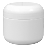 2 oz Double Wall White Jar with Lid